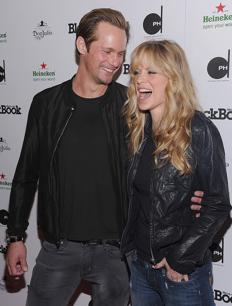Alexander Skarsgard laughs with Kristin Bauer.