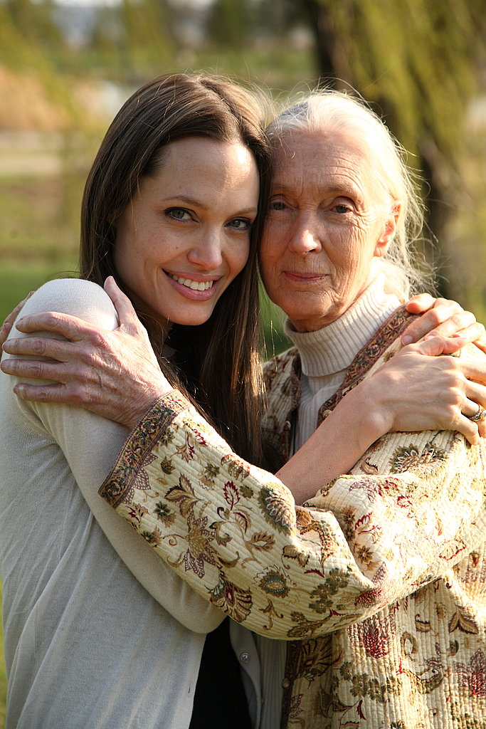 Angelina Jolie and Jane Goodall.