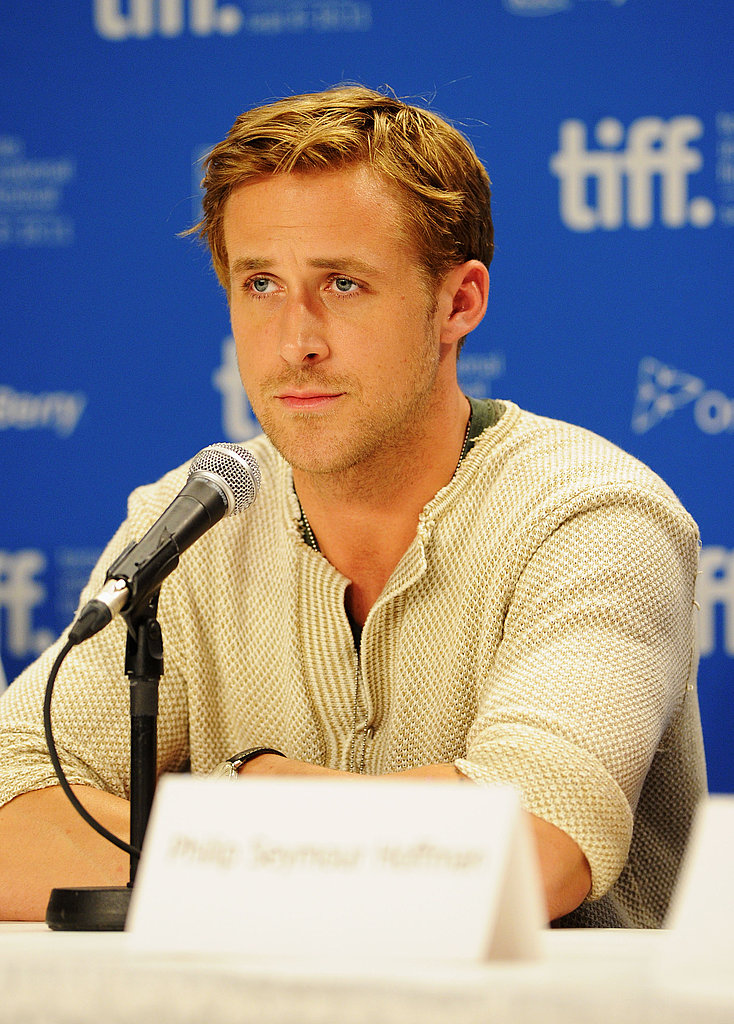 Ryan Gosling at The Ides of March press conference in Toronto.