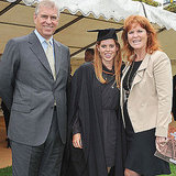 Prince Andrew and Sarah Ferguson with Princess Beatrice on her graduation day.