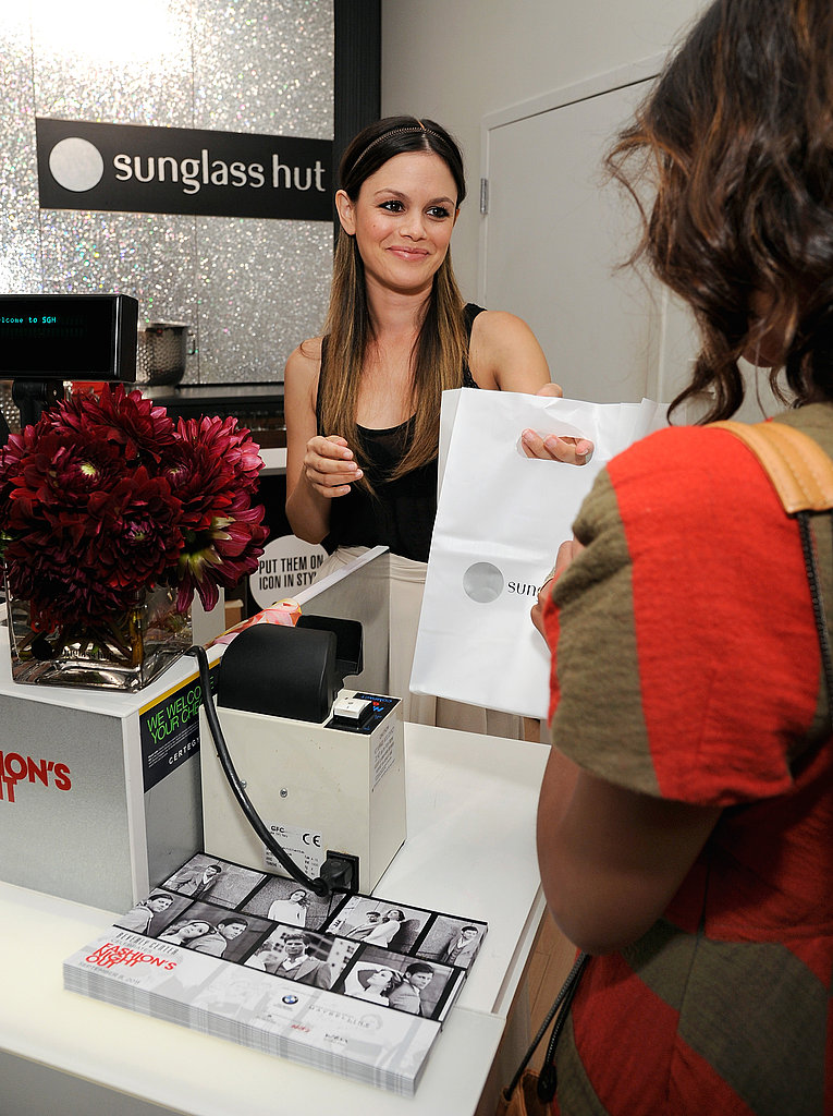Rachel Bilson went shopping on Fashion's Night Out.