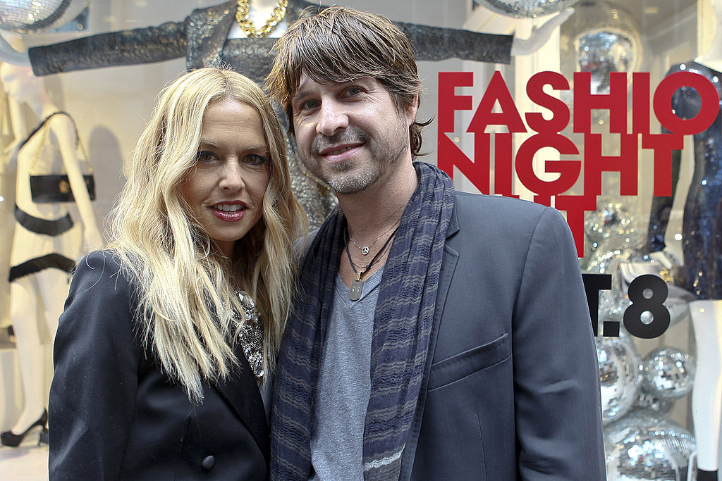 Rachel Zoe and Rodger Berman at Fashion's Night Out.