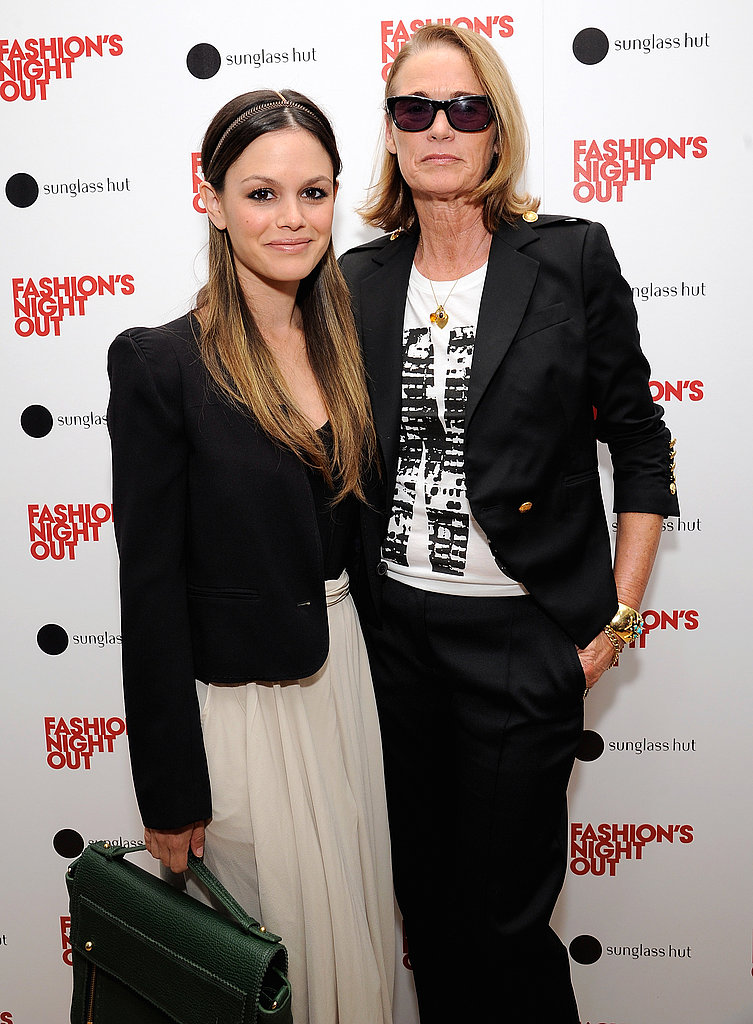 Rachel Bilson and Lisa Love on Fashion's Night Out.