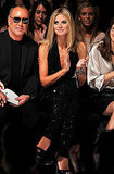 Heidi Klum at NY Fashion Week.