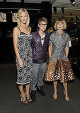 Justin Bieber, Brooklyn Decker, Anna Wintour at Dolce & Gabanna.