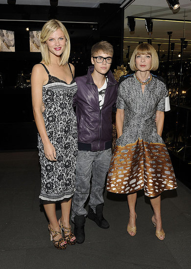 Justin Bieber Celebrates Fashion's Night Out With Anna, Brooklyn, and Chace!