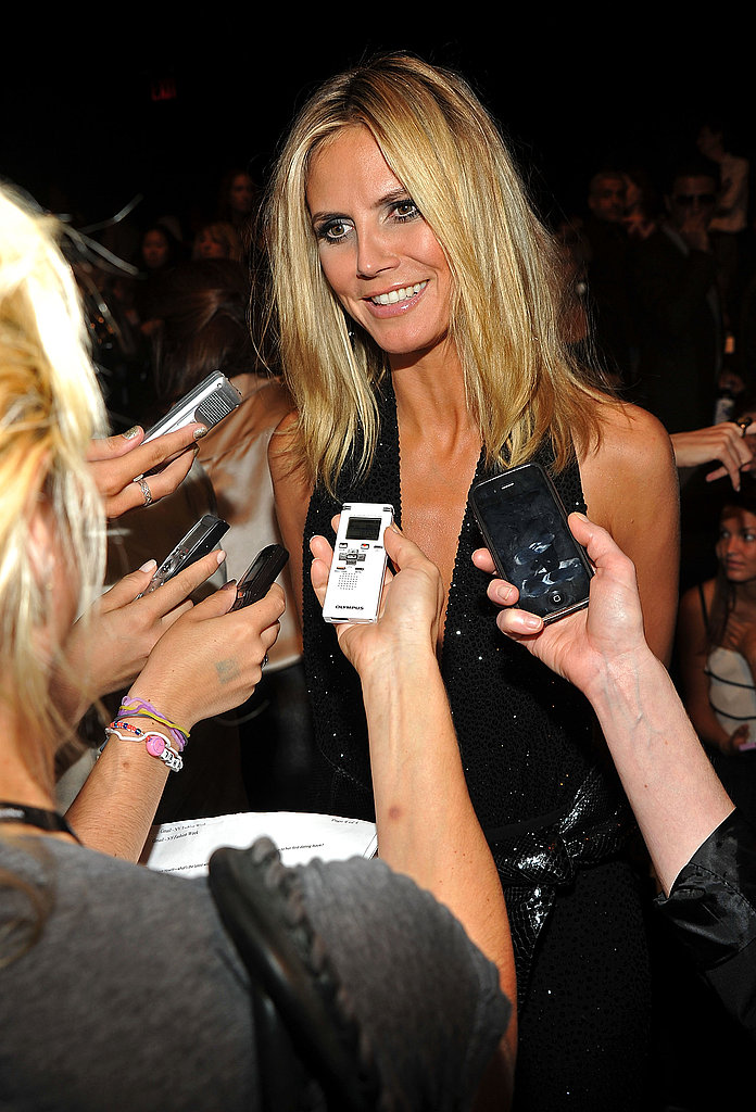 Heidi Klum during Project Runway's fashion show.