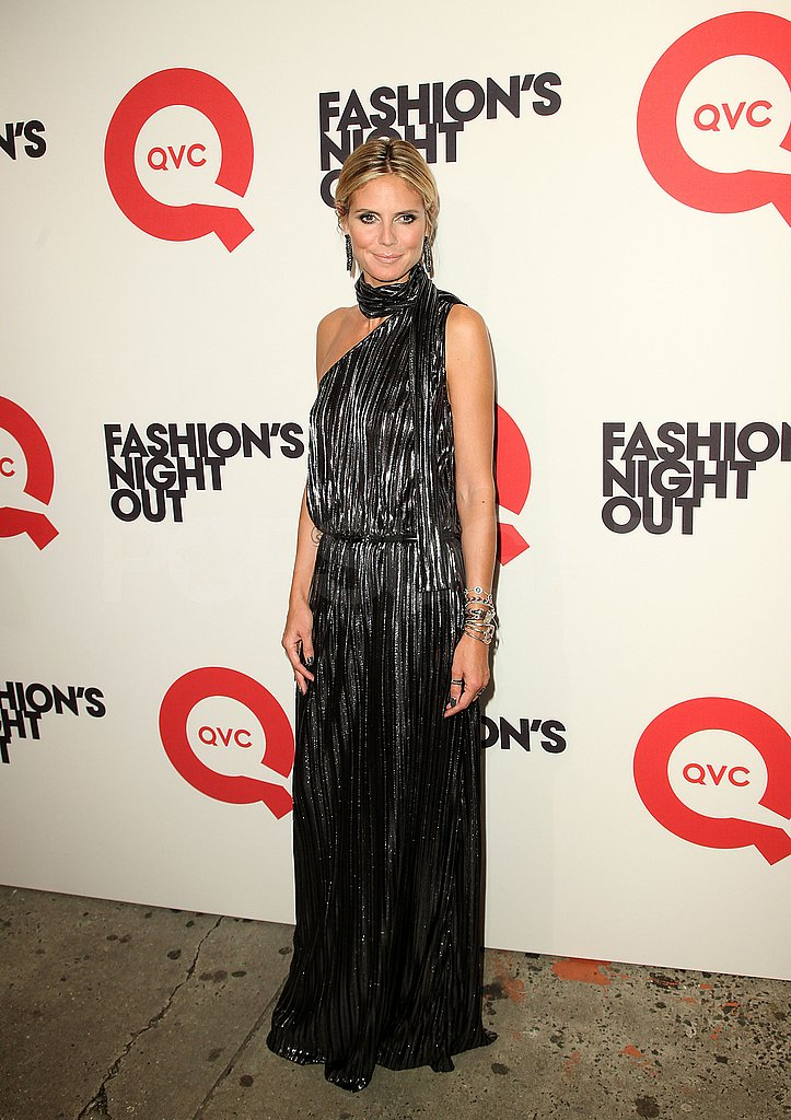 Heidi Klum at QVC's Fashion's Night Out party.