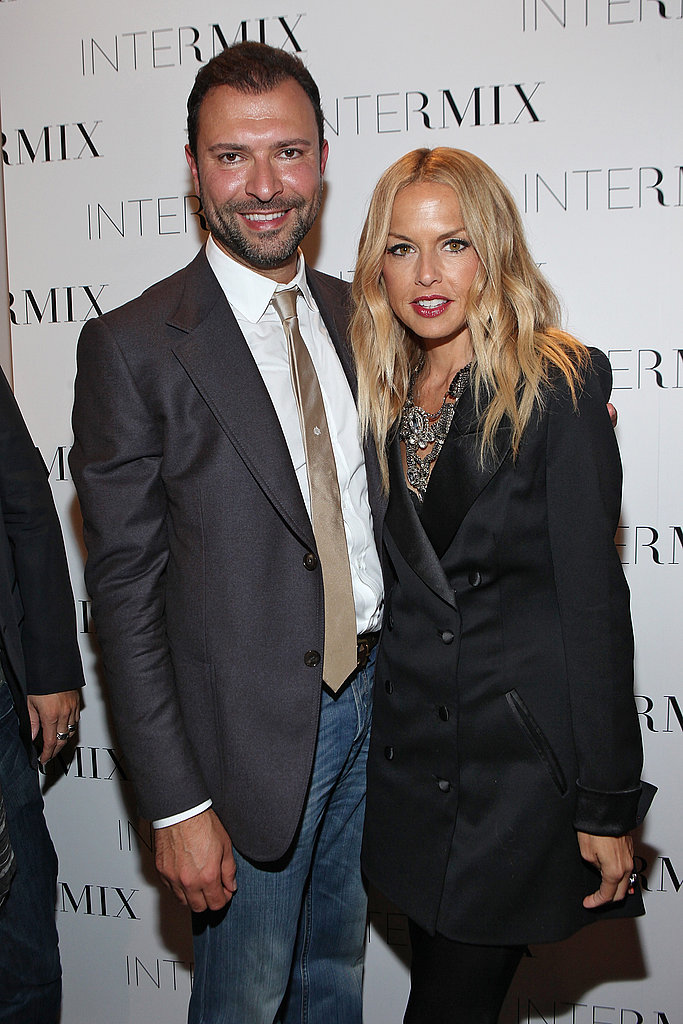 Rachel Zoe in a double-breasted jacket.