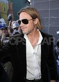 Brad Pitt showed off a sexy smirk at the Toronto Film Festival while promoting Moneyball.