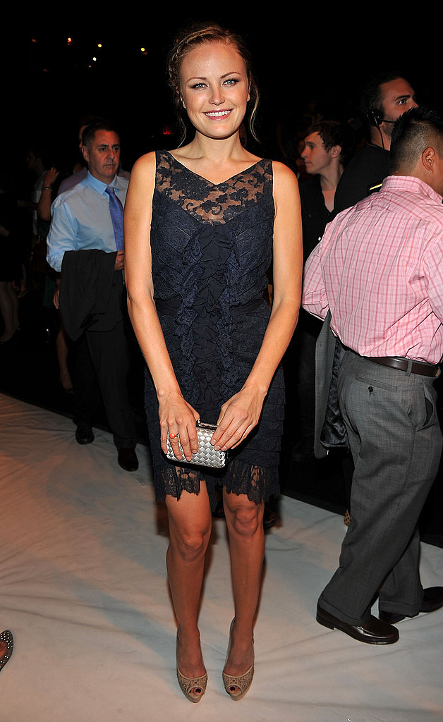 Malin Akerman at NY Fashion Week.