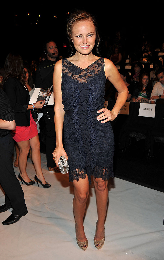 Malin Akerman at the Project Runway show during NY Fashion Week.