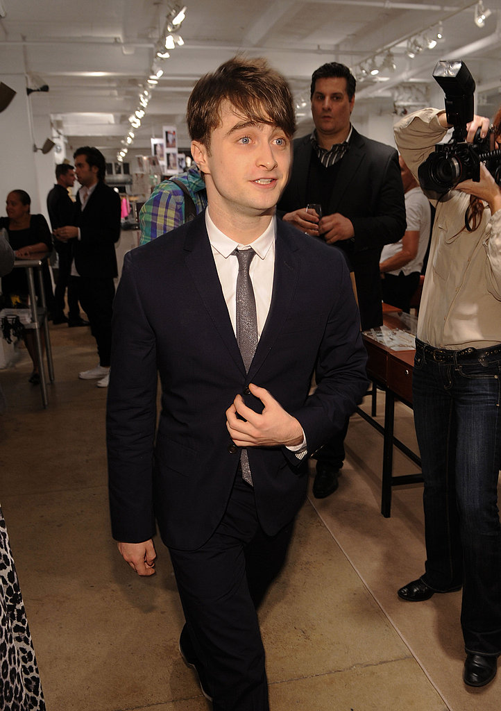 Daniel Radcliffe on Fashion's Night Out.