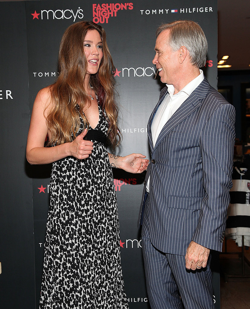 Tommy Hilfiger and Joss Stone met up at Macy's.