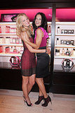 Adriana Lima and  Erin Heatherton hugged on Fashion's Night Out.