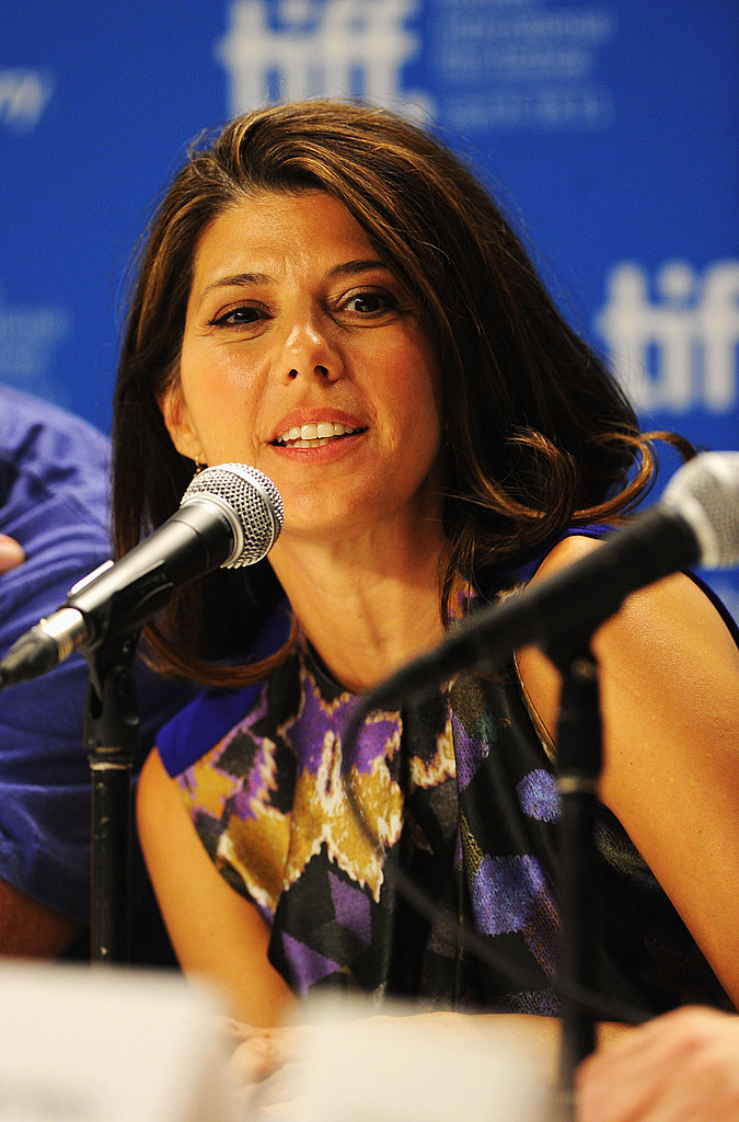 Marisa Tomei at The Ides of March press conference in Toronto.