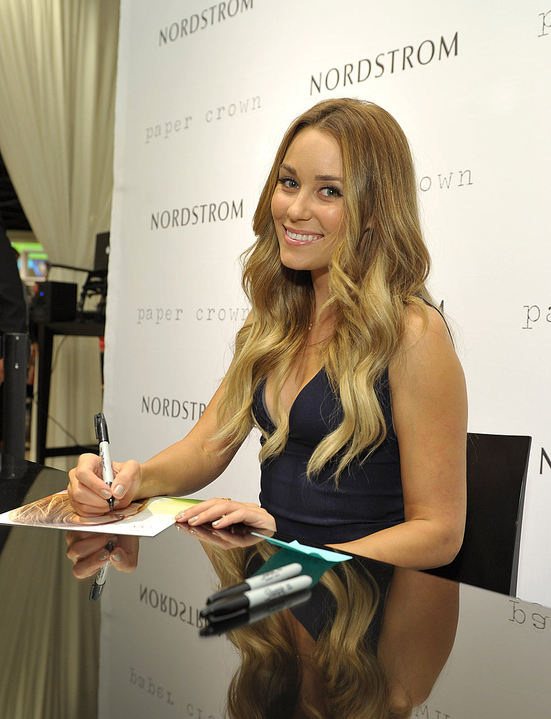 Lauren Conrad signed copies of her book on Fashion's Night Out.