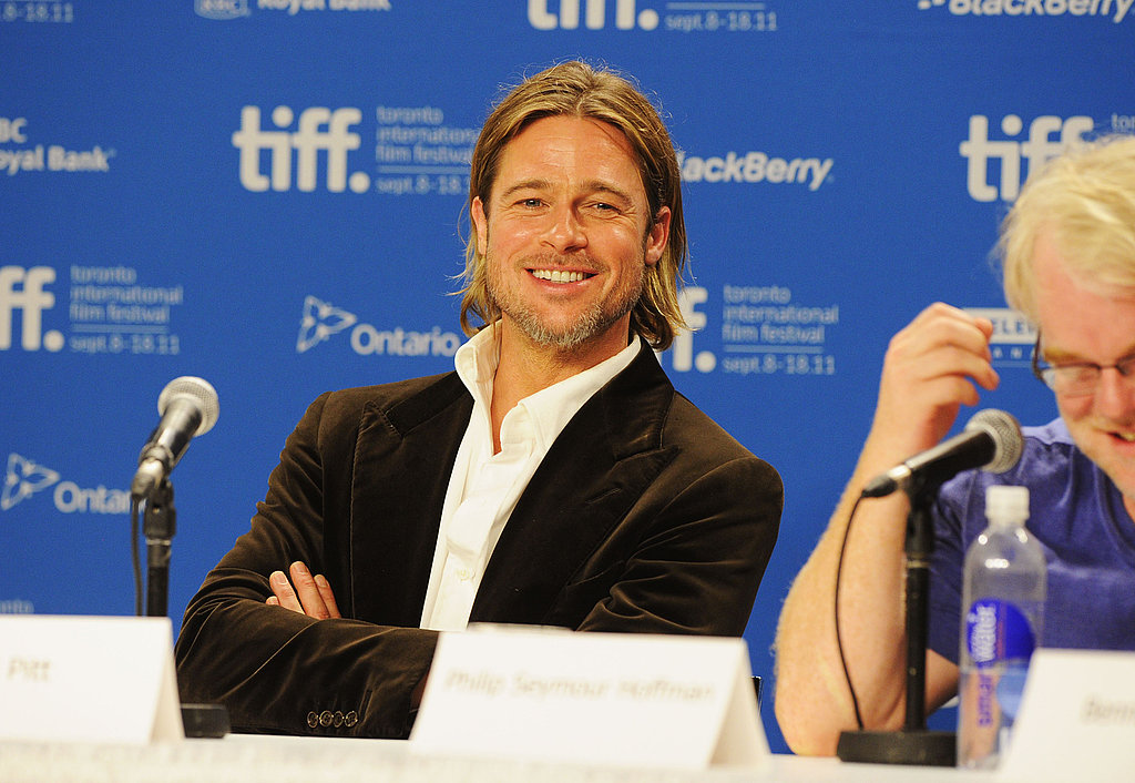 Brad Pitt kept everyone laughing in Toronto.