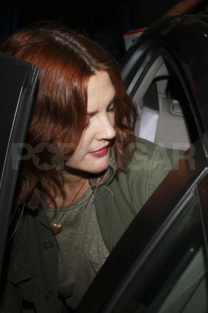 Drew Barrymore leaves LA's Playhouse club.