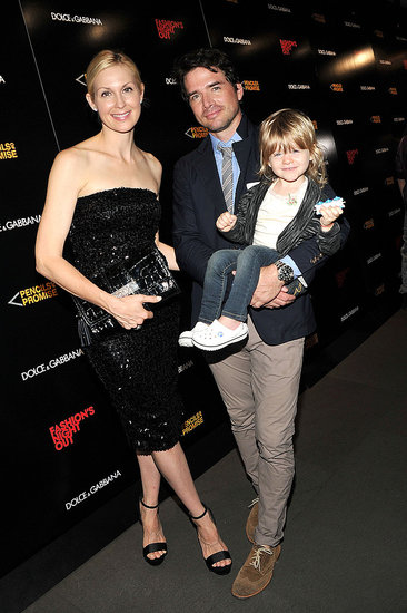 Kelly Rutherford, Matthew Settle, and his daughter on Fashion's Night Out.