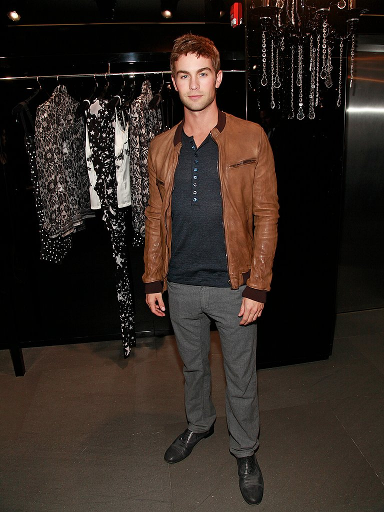 Chace Crawford kept his palette neutral on Fashion's Night Out.