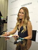 Lauren Conrad signed autographs on Fashion's Night Out.