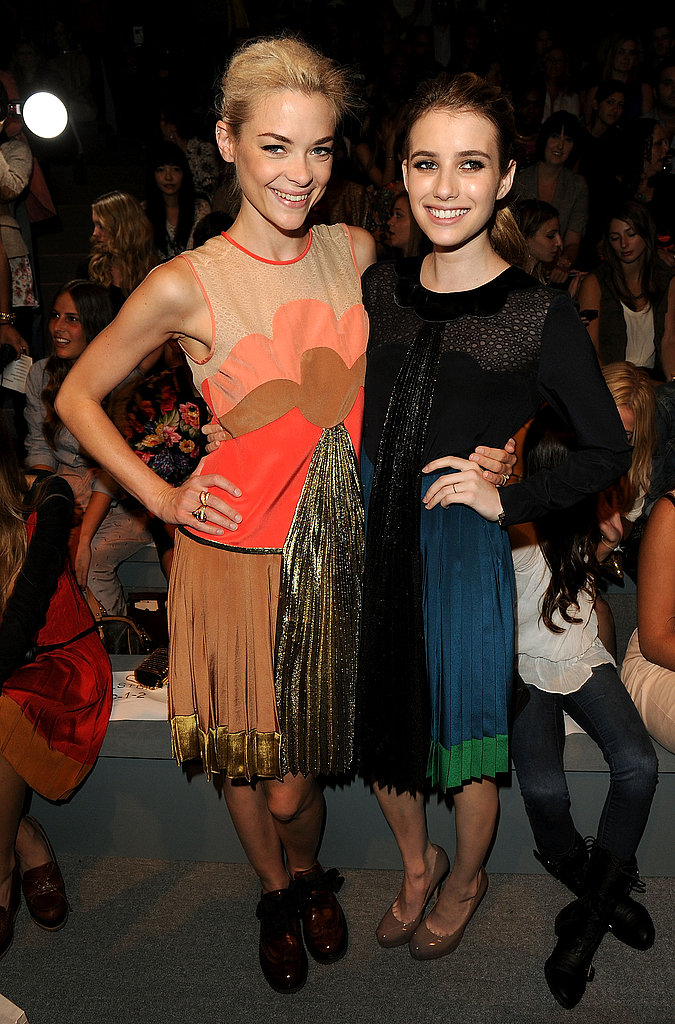 Jaime King and Emma Roberts at Jill Stuart.