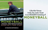 Free Moneyball Movie Tickets NYC