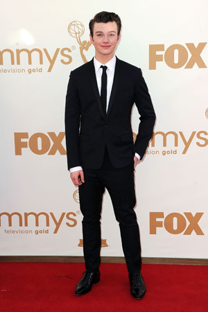 Nominee Chris Colfer looked dapper in his tux.