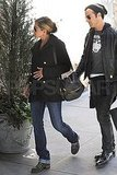 Jennifer Aniston and Justin Theroux Hold Hands All the Way Home