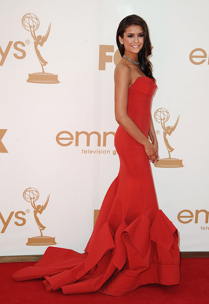 Nina Dobrev at the 2011 Emmys.