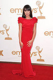 Lea Michele at the 2011 Primetime Emmys.