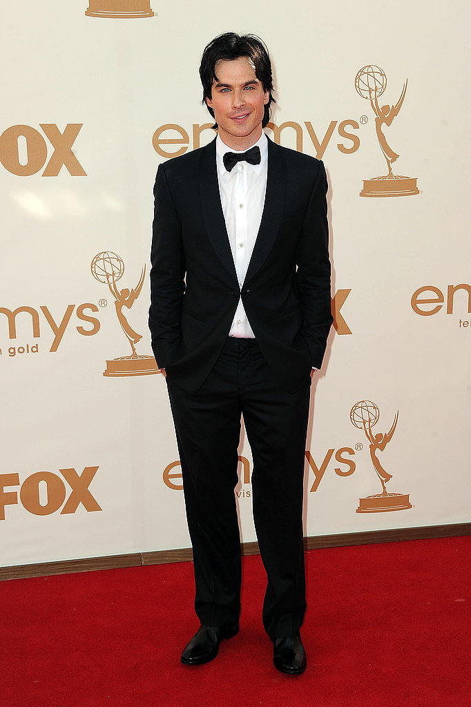 Ian wore a tuxedo on the red carpet.