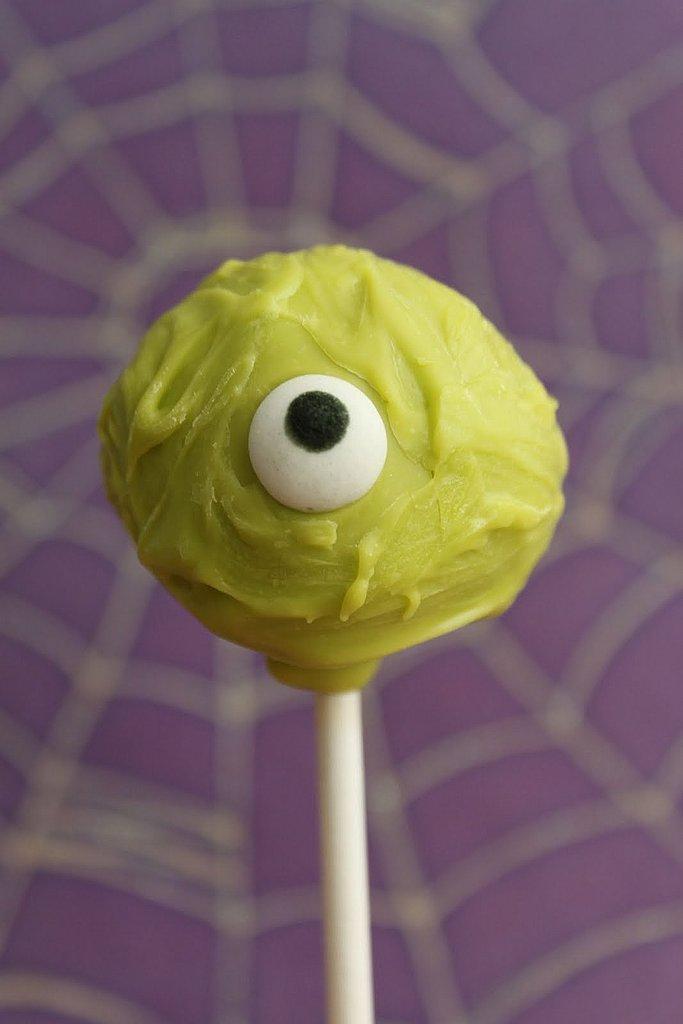 Green Eye Cake Pop