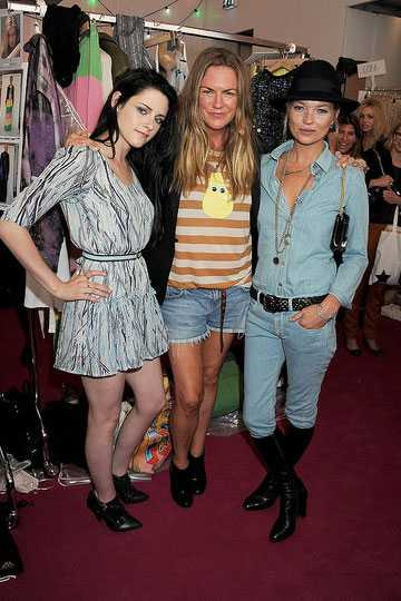Kristen Stewart, Emma Hill and Kate Moss