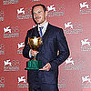 Michael Fassbender Picture Winning the Best Actor Prize in Venice