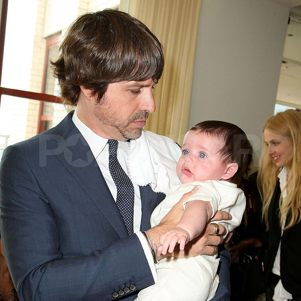 Roger Berman with baby Skyler in NYC.