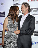 Gerard Butler and Michelle Moaghan shared a laugh.