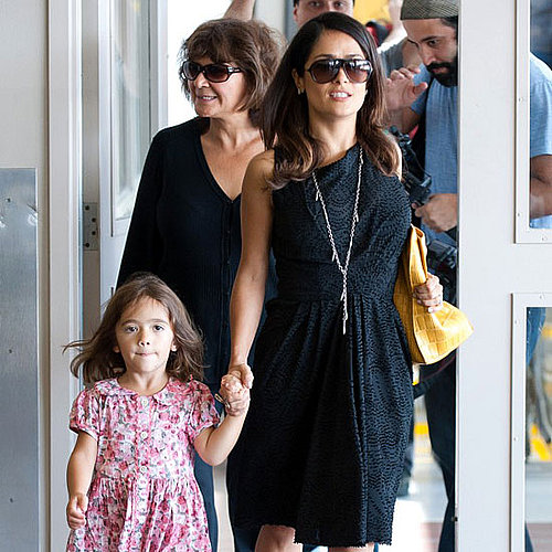 Salma Hayek and Valentina Pinault Arrive at LAX Pictures