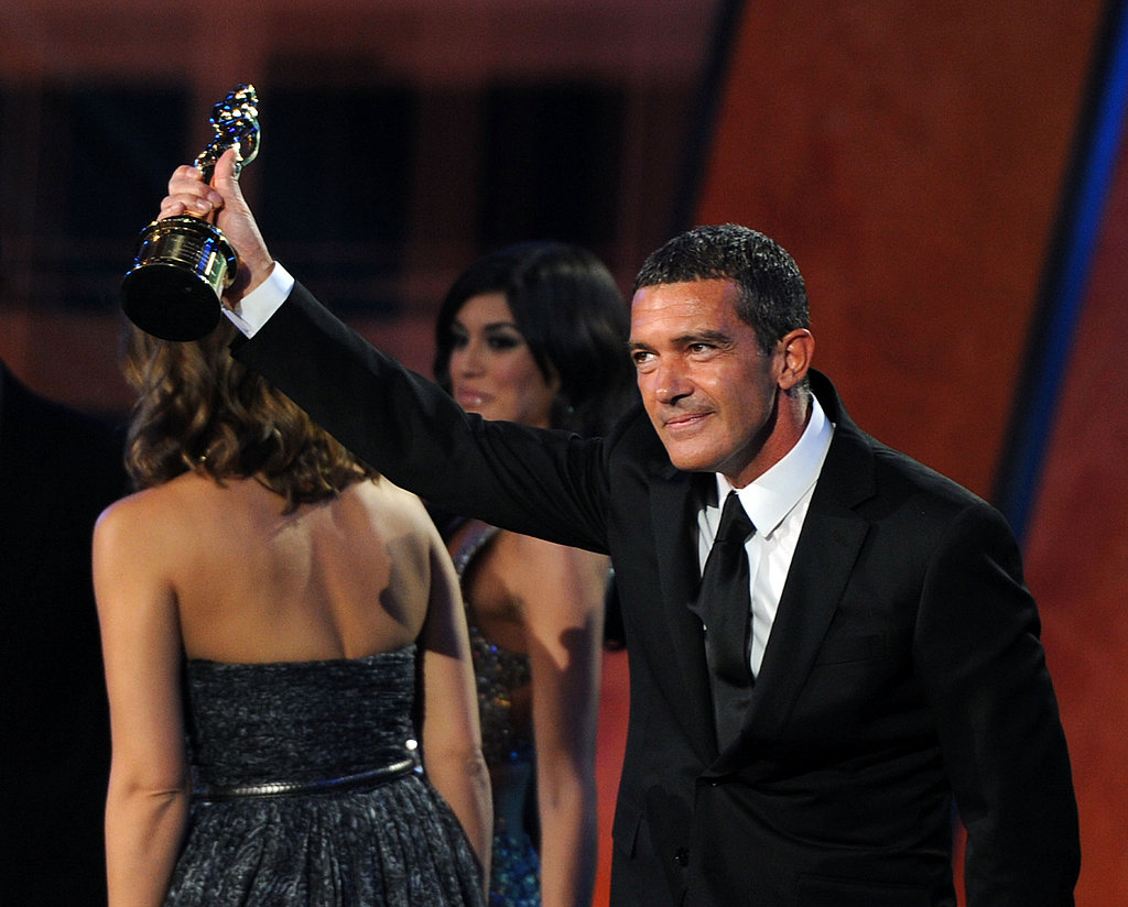Jessica Alba and Antonio Banderas at the ALMA Awards.