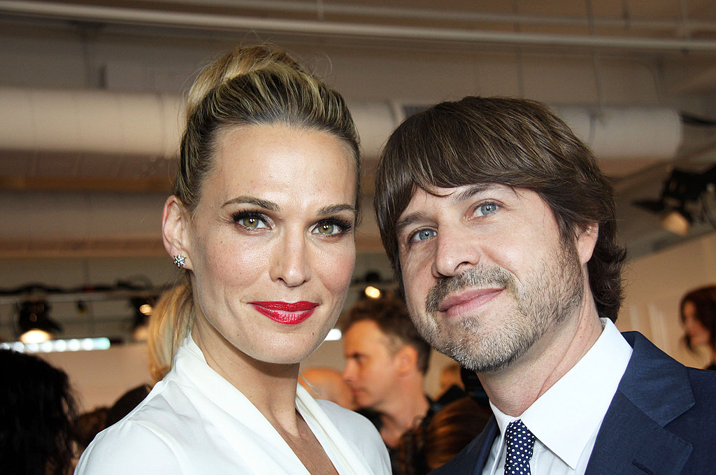 Molly Sims and Roger Berman hung out at Rachel Zoe's show.