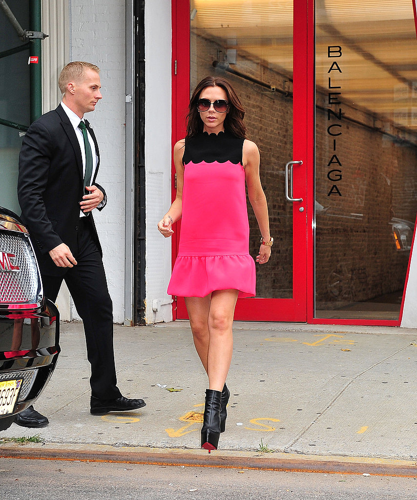 Victoria Beckham went shopping at her Fashion Week presentation.