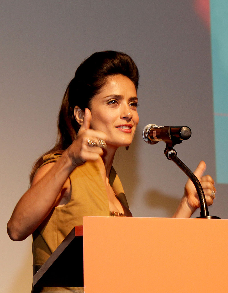 Salma was on hand for Saturday's TIFF premiere of Americano.