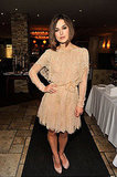 Keira Knightley wore a neutral dress to her A Dangerous Method screening.