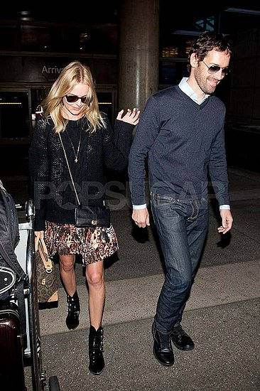 Kate Bosworth Lands Back in LA With Her Man Michael Polish