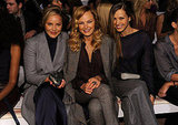 Malin Akerman, Petra Nemcova, and Abbie Cornish sat front row at the Tommy Hilfiger show.