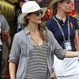 Keri Russell Pregnant at US Open With Shane Deary Pictures