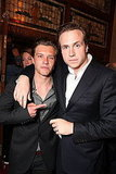 Rafe Spall and Xavier Samuel joked around at the premiere.