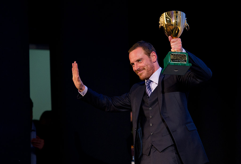 Michael Fassbender accepted the Volpi Cup for best actor.