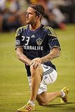 David Beckham stretched his legs.